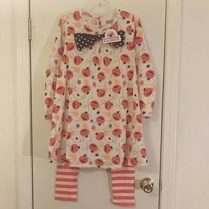Jelly the pug Halloween dress with leggings NWT 10